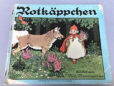 Grimm Märchen-Buch Bilder- Kinderbuch Rotkäppchen Fritz Baumgarten Leipzig ~1928