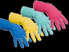 VILEDA Professional Rubber Gloves Flock Lined Household Cleaning Medium Red
