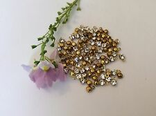 15 Swarovski Crystal rhinestones drops 1 loop setting 16ss 4mm CRAFT Post Free