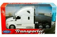 Welly 1/32 Transporter Freightliner Cascadia Cab Diecast Semi White 32695W-WH
