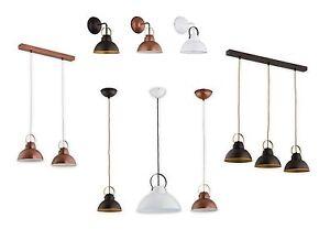 Pendant Ceiling Loft Light Vintage White Copper Wenge Industrial Retro Fitting