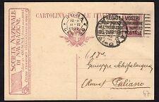 STORIA POSTALE REGNO 1922 Intero Postale 25c Società Naz Navigazione USATO (FM6)