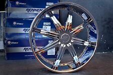 "CAESAR 28"" CHROME RIMS WHEELS 2WD S-10 PICKUP / 28 x 10 5H +10"