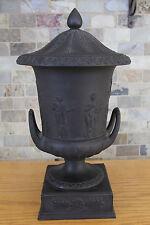 "Magnificent Wedgwood Basalt 15"" Covered Urn (c.1898)"