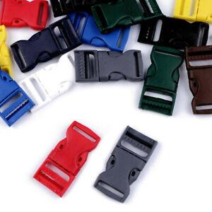 1-25 Stk. Steckverschluss mit Regulator 20mm - Steckschnalle Steckklammer