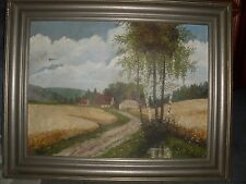 sehr altes Bild Original Gemälde, Landschaft