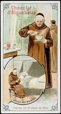 santino-santo card FRAILES FRANCISCANOS DE AIGUEBELLE S.GIOVANNI DE DIOS