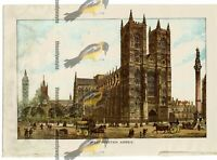 Westminster Abbey, London, England, Book Illustration (Print), 1891