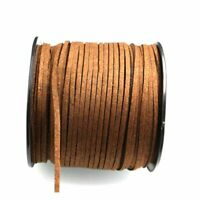 3mm Suede Leather Thread Necklace Jewelry String DIY Making Cord Brown