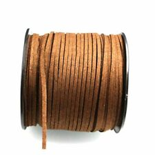 10 Yards 3mm Suede Leather Thread Necklace Jewelry String DIY Making Cord Brown