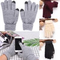 Unisex Winter Warm Cashemere Touch Screen Gloves Full Finger Mittens Gloves