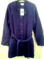 Button Knee Length Wool No Pattern Coats & Jackets for Women