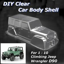 PVC Climbing Car Jeep Body Shell for 1:10 Scale RC Crawler Trucks Car D90 Clear