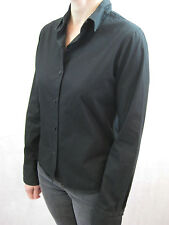 Agnes B Paris Size 8 Black Chic Button Down Shirt Blouse