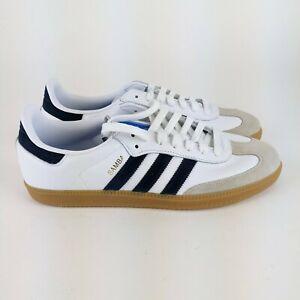 adidas Originals Mens SAMBA OG SHOES White/Collegiate Navy/Blue Size 11 EE450