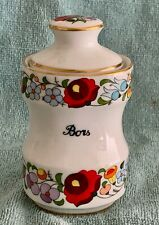 Kalocsa Hand Painted PEPPER Bors Spice Jar  Mint Condition.
