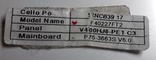 FIRMWARE FILE Cello SNCB39 F40227FT2 P75-3663S V6.0, V400HJ6-PE1 P75-3663SV6.0-A