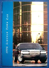 Prospekt brochure 1996 Lincoln Town Car  (USA)