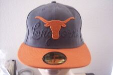 New Era Texas Longhorns 59fifty Burnt Orange Dark Gray Baseball Hat Cap 7 $31.99