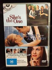 JENNIFER ANISTON~SHE'S THE ONE+PICTURE PERFECT+THE OBJECT OF MY AFFECTION~ DVD'S