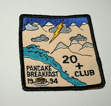 2 Vintage 1994 Girl Boy Scouts Pancake Breakfast Cloth Patch Sale NOS New Scout