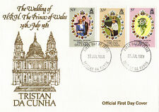 TRISTAN da CUNHA 1981 ROYAL WEDDING FIRST DAY COVER