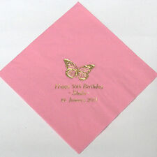 50 personalised Swantex Birthday napkins 10 colours Perfect for buffet.