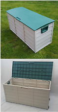 Garden Storage Box Extra Large Plastic Outdoor Chest Waterproof Store Outdoor