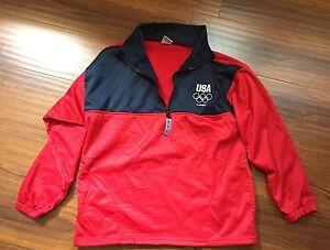 LONDON 2012 OLYMPICS TEAM USA Red Lightweight Pullover Fleece Unisex Sz M