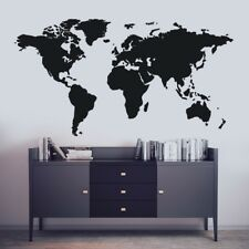 World Map Decal Large Map Wall Sticker Wall Art Decal Removable Wall Decal