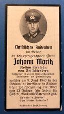 MILITARIA WW2 Faire part de décès Soldat Allemand Wehrmacht 39-45