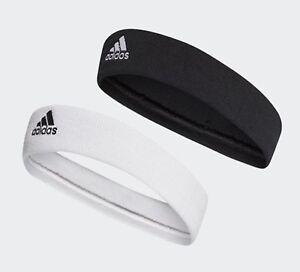 Adidas Tennis Headband Sports Band Running Black White Hairband Bands CF6925
