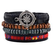 "Armband Bracelet ""BRANDNEU"" Kompass Anker -SURFER STYLE- Leder Geschenk Unisex"