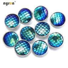 10pcs Multi Color Acrylic Snap Charms 18mm Snap Button For 20mm Snap Jewelry
