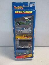 Hot Wheels 5 Car Gift Pack Big City Trucks w dumptruck