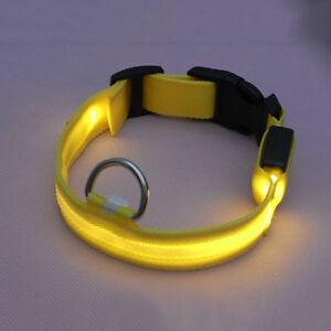New Adjustable LED Glow Nylon Dog Night Safety Flashing Light Safety Dog Collar