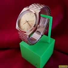 "Nixon ""The Time Teller"" (Gold) 100M 3-Hand Japan Movement & Expansion Band [12I]"