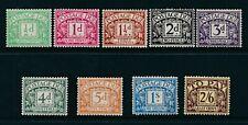 GB 1924 Postage Due SG D10-D18 MNH