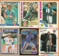 Gary Carter, Expos & New York Mets, 6 card vintage LOT, all 32+yrs old, Nr Mint