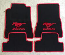 Autoteppich Fußmatten für Ford Mustang ab 2015' schwarz rot Neu 4teilig Velours