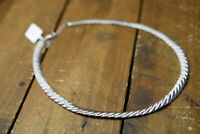 sterling silver flat weave necklace new with tags 925 italy