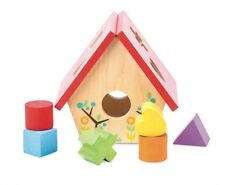 MY LITTLE BIRD HOUSE SHAPE SORTER TRADITIONAL WOODEN  TOY    UK FREE POST