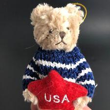 "Bearington Bears Collection Patriotic  Plush Freddy Freedom Retired USA 4"""