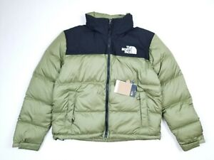 NWT The North Face Eco Nuptse Down Jacket Green/Tumbleweed Women's Size XL