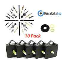 New 10 Pack Quartz Clock Movements Mechanisms Motors Metal Hands Clock Making
