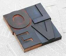 """Love"" madera letras drucklettern letter vintage Shabby Chic letterpress Wood"