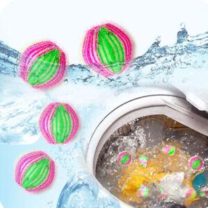 Hk- 6Pcs Magisch Haar Fussel Entferner Wäsche Kleidung Waschmaschine Reinigung