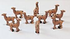 Peruvian Ceramic Brown Llama Beads 35X32 mm Lot of 10