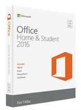Microsoft Office MAC Home and Student 2016 Sealed UK Box ( GZA-00695 )