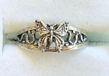 Genuine .925 Sterling Silver Filigree Butterfly Toe Ring